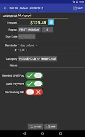 MoBill Budget and Reminder Screenshot 16