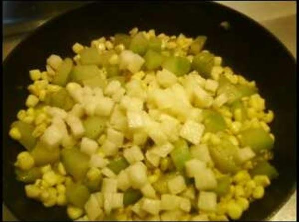 Saute' Chayote With Corn Recipe