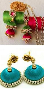 Silk Thread Earings Gallery - náhled