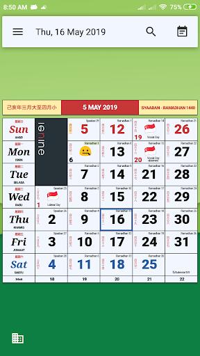 Monthly Calendar & Holiday Apk 1