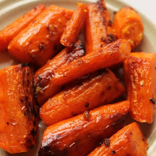 Roasted Garlic Butter Carrots.