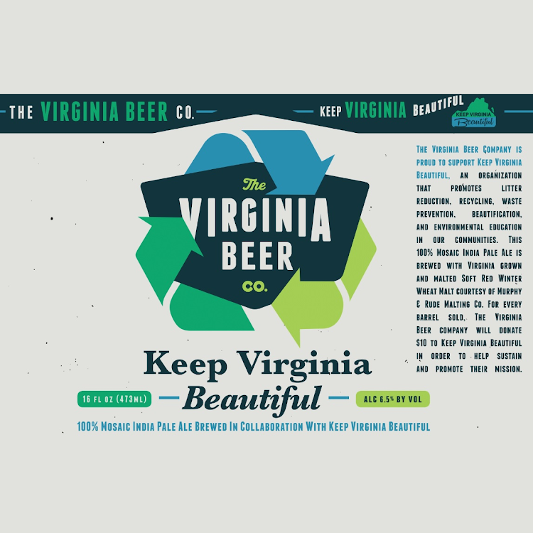 Logo of Virginia Beer Co. Keep Virginia Beautiful