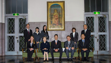 Photo: The prince of Liechtenstein visiting the University of the Sacred Heart.