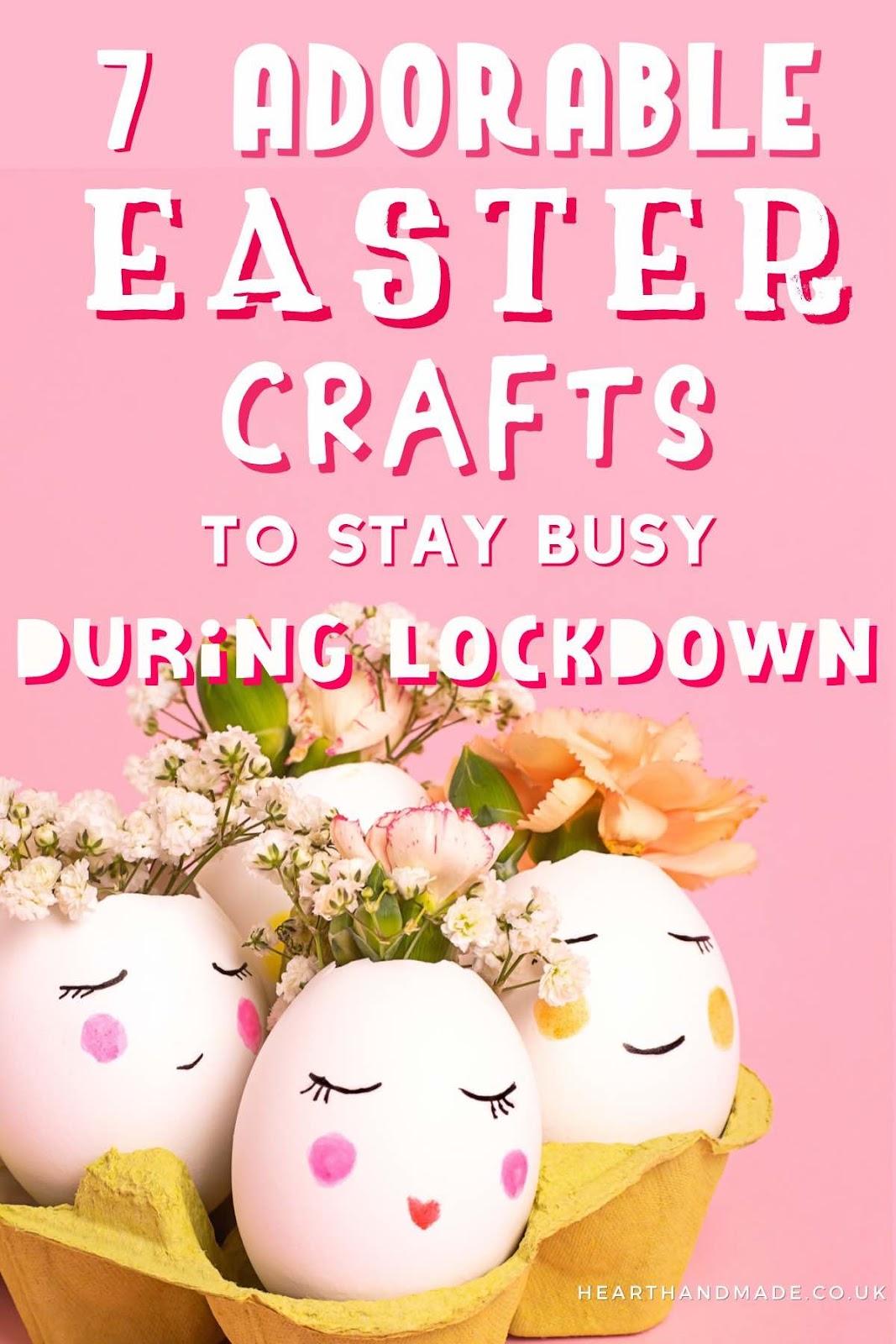Easter Crafts - Pretty Egg Vases
