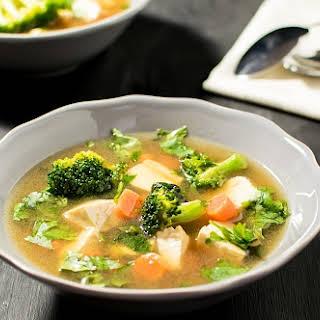Cilantro Tofu Soup.