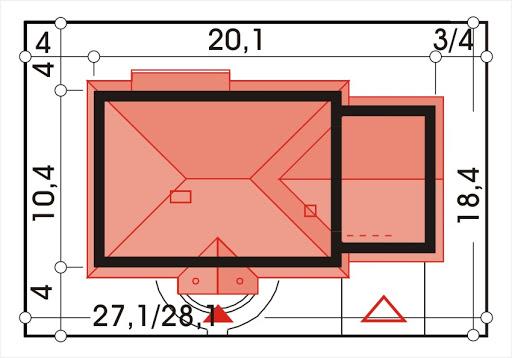 Sielanka II 35st. wersja B z podwójnym garażem - Sytuacja