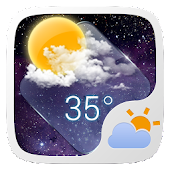 Clear Glass GO Weather Widget