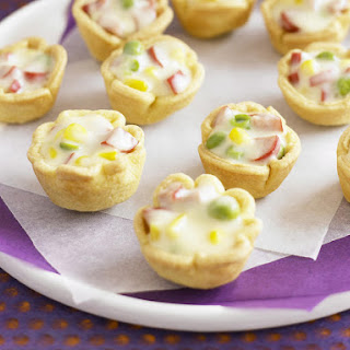 Mini Sausage and Vegetable Pastry Cups.