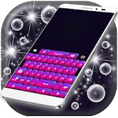 Keyboard Pink and Purple
