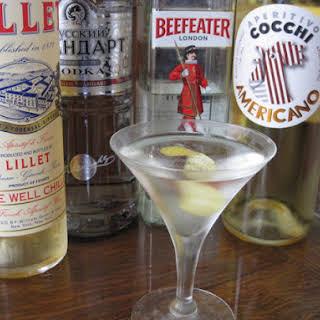 The Vesper Cocktail.