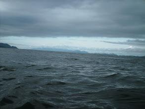 Photo: Looking south as I cross Fitz Hugh Sound.