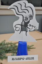 Photo: RASPutin or Raspy-utin? Thanks to Allison for making all these Raspy decorations!