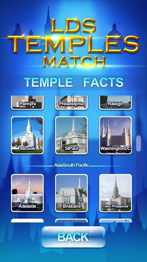 LDS Temples Match- screenshot