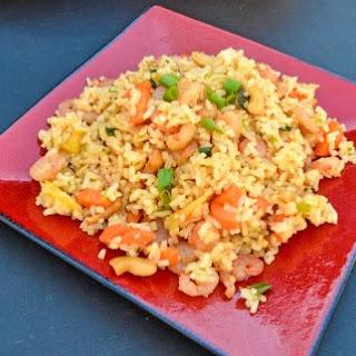Pineapple Cashew Shrimp Fried Rice