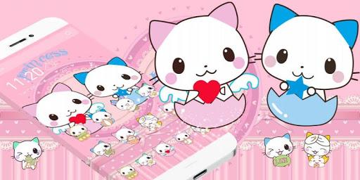 Cute Cartoon Cat Love Theme 1.1.7 screenshots 4