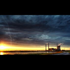 Powerhouse by Kai Süselbeck - Landscapes Weather ( powerhouse, storm, light )