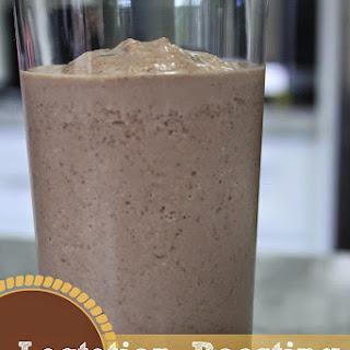 Chocolate Peanut Butter Banana Lactation Boosting Milkshake.