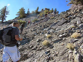 Photo: Climbing the steep rocky section, sharing the trail with a group from OC Hiking Club