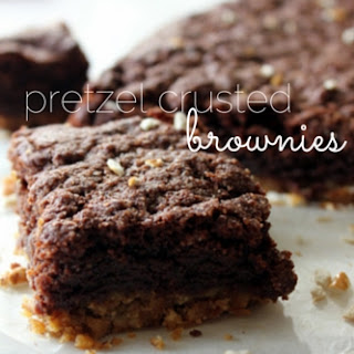 Pretzel Crusted Brownies