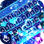 App Sparkling Blue Heart Keyboard Theme APK for Windows Phone
