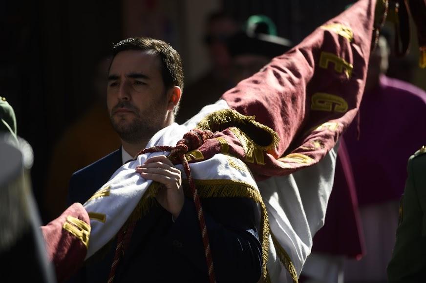 Carlos Sánchez lleva ya nueve años portando el Pendón.
