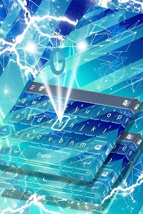 Blue Keyboard Free 2017 Theme - náhled