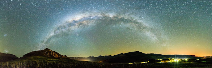 Photo: The Milky Way  This panorama of the night sky was taken on a moonless night in the Drakensberg, South Africa. I had been waiting a long time to try my hand at some star photography so I was understandably quite excited to finally get this opportunity.  For the curious, here's how I created this image: My camera was on a fixed tripod. I took nine individual photos by panning my camera between shots then I stitched them all together using a free app called Hugin. Each photo was shot in a portrait orientation and the camera was in manual mode. I used manual focus at 16mm, f/2.8, 30 second shutter, ISO 6400. The full size version of this photo is roughly 14,000 x 4,200 pixels.  #NightPhotographyFriday  by +Mark Hammon and +Steve Passlow (+Night Photography Friday) #AmazingLandscapes by +Rolf Hicker #LandscapePhotography by +Margaret Tompkins, +Carra Riley, +paul t beard, +Ke Zeng, +David Heath Williams (+Landscape Photography) #ImperfectEllipse by +Charlotte Therese Björnström, +Olav Folland, +Sharon Jeannette #HowIShotThisPhoto by +Vince Ong #plusphotoextract