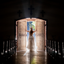 In the Doorway by Lood Goosen (LWG Photo) - Wedding Bride ( bride, w edding dress, wedding photographer, wedding photography, weddings, wedding day, wedding photographers, brides, lood goosen, www.lwgphoto.co.za, photographers, bridal dress, wedding, events, bride dress )