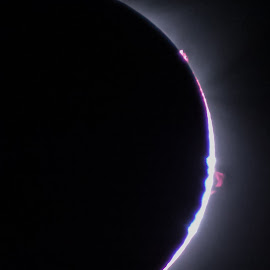 by Art Tilts - Nature Up Close Other Natural Objects ( solar eclipse, moon, baily's beads, solar, chromosphere, sun, prominence )