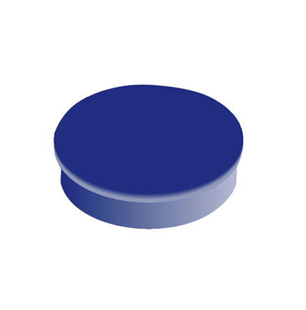 Magnet rund  30mm blå    10/fp