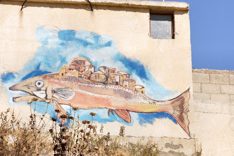 Photo: Painting in Al-Twani made by artists of the Freedom Theatre in Jenin