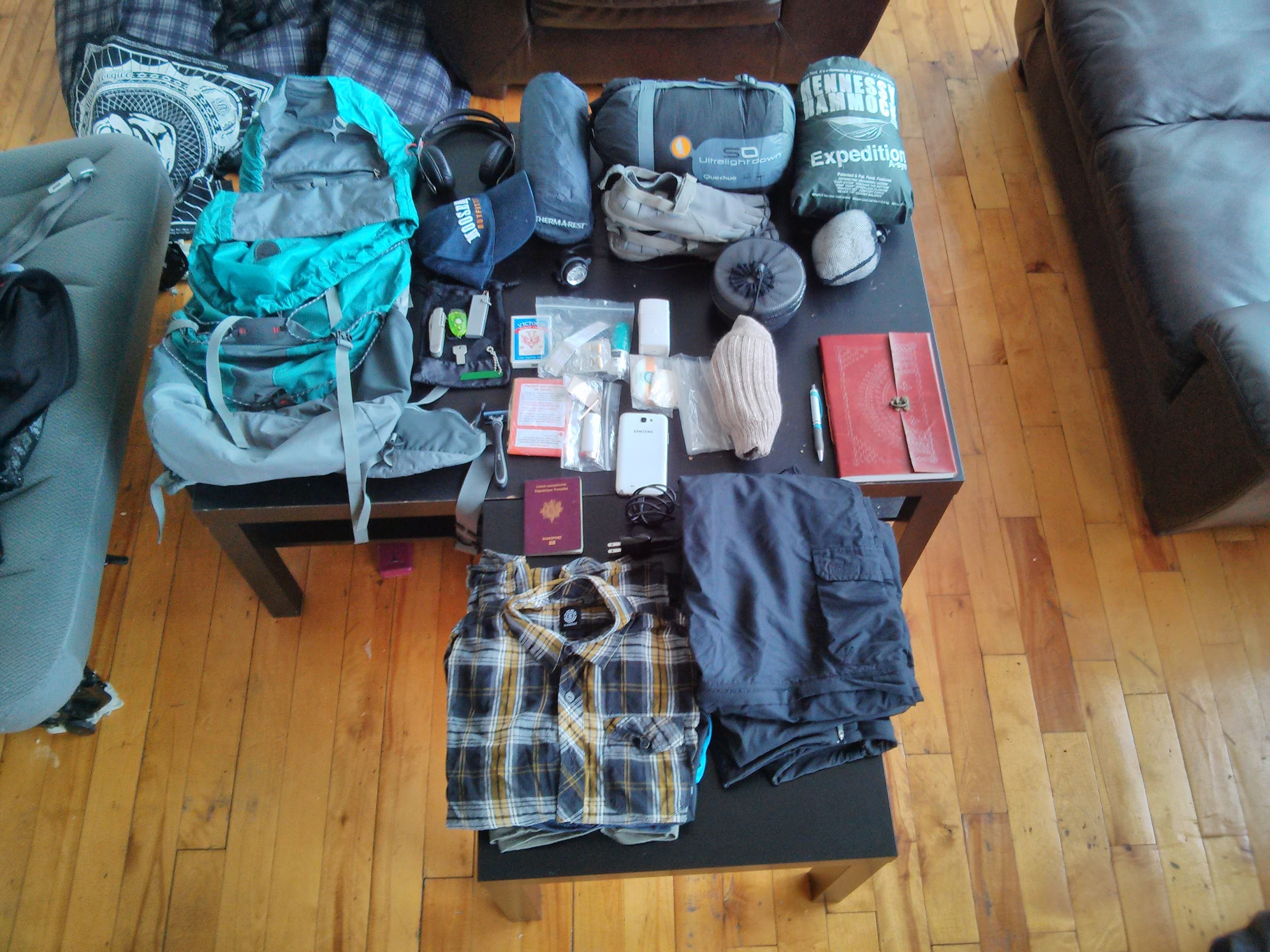 Mon équipement pour un mois de vagabondage en Louisiane