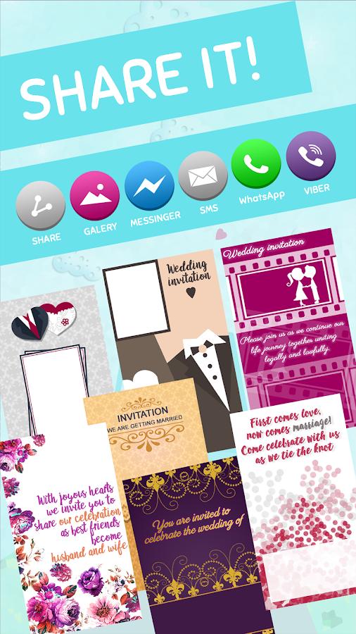 Wedding invitations free maker android apps on google play wedding invitations free maker screenshot stopboris Choice Image