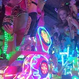amazing parade of Japanese girls at the Robot Restaurant in Kabukicho in Kabukicho, Tokyo, Japan