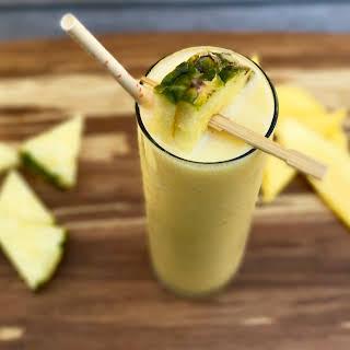Mango-Pineapple Protein Smoothie.
