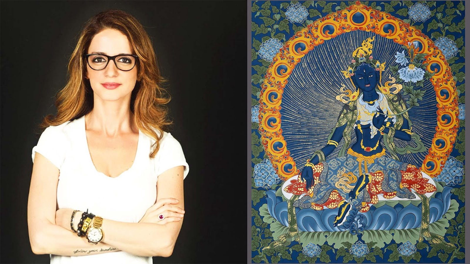 Interior designer Sussanne Khan personally owns two thangkas and is co-presenting the exhibition with Simran Lal, Good Earth