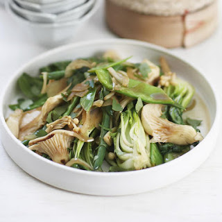 Mushrooms and Bok Choy with Ginger Rice.