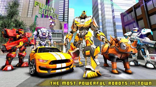 Rhino Robot Car transforming games u2013 City battle filehippodl screenshot 12