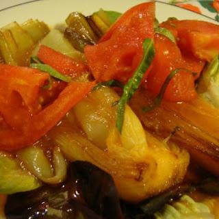 Braised Leeks with Tomato Vinaigrette