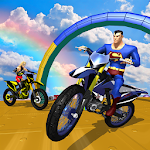 Super Heroes Bike Stunts Mania