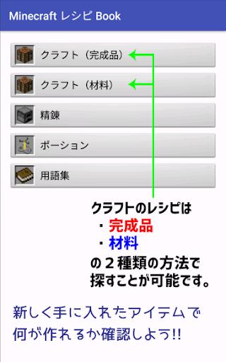 マインクラフト レシピBook