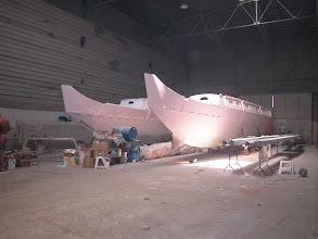Photo: Summer 2003: HIghest temperature in the hangar: 46°C!!