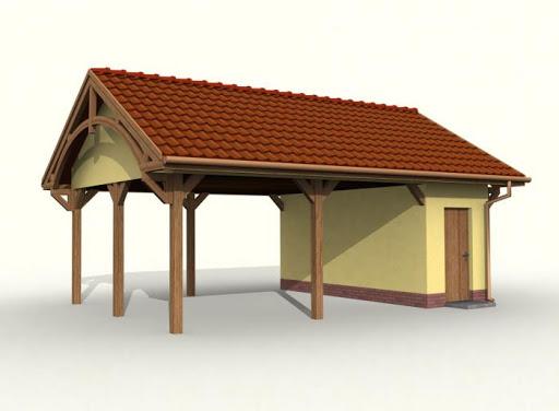 projekt G48 wiata garażowa
