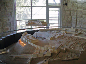 Photo: As many as twenty civilizations are thought to have lived here; their cities are built on top of each other.  The model illustrates one layer on top of another.