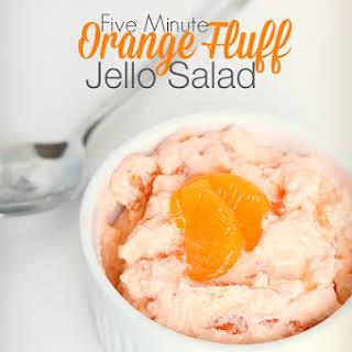 Five Minute Orange Fluff Jello Salad.
