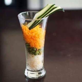 Carrot and Radish Topped with Crunchy Peas Recipe