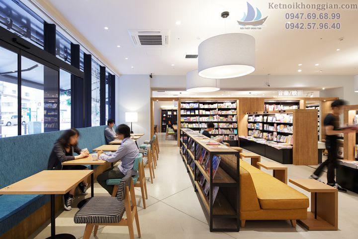 thiết kế nhà sách đẹp tại Nhật