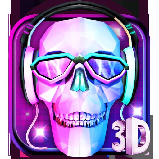 3D DJ Skull & Rock Music Theme