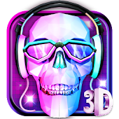 3D DJ Skull & Rock Music Theme