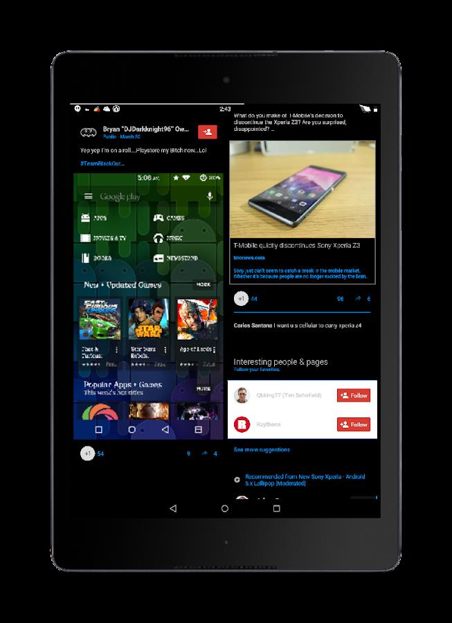 Blak Azurro  CM12 Theme - screenshot